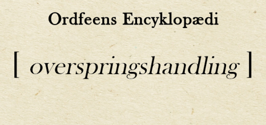 Ordfeens Encyklopædi ordforklaring på overspringshandling