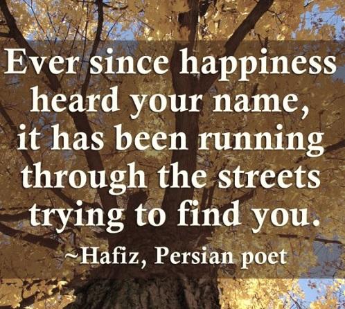 Digt af Hafiz, glædessamler