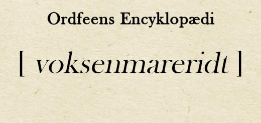 Ordfeens encyklopædi - Voksenmareridt
